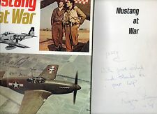 SIGNED ROGER A FREEMAN MUSTANG AT WAR FIRST EDITION HARDBACK U/C DJ 1974