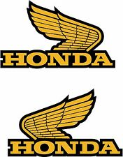 2 x Honda Wings decal sticker Motorbike Scooter Motorcycle Medium