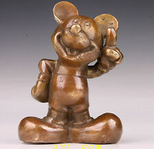 Disney Lovely Lifelike Bronze Statue Mickey Mouse Old Hand Household Decorations