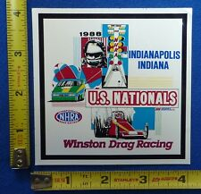 1988 NHRA US Nationals Indy Event Decal Sticker~Indianapolis~Winston Drag Racing