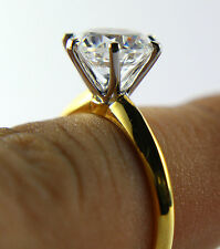 Round Brilliant Solitare Diamond Wedding Bridal Engagement Ring 14k Yellow Gold