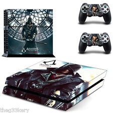 Nuevo Ps4 Vinilo Skin Assassins Creed Syndicate Controlador & pegatinas consola Reino Unido