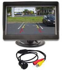 "New Rockville Flush Mount Universal Backup Camera + 4.3"" Dash Mount Car Monitor"