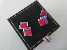 Paul Smith Cufflinks – multi colour patterned chain Cufflinks