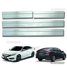 Stainless Steel 4Dr Scuff Plate Sill Door Cover Fit Honda Civic FB6 Sedan 2016