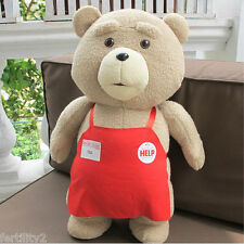 46CM Ted Movie Teddy Bear Shirt Plush Stuffed Animal Soft Toy Doll Pillow Gift