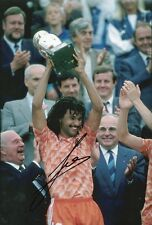 RUUD GULLIT Signed 12x8 Photo HOLLAND Football Legend COA