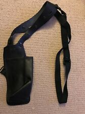Ex Police Black Leather Shoulder Radio Pouch For Under Clothes. 118.