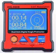DXL360S GYRO + GRAVITY 2 in 1 Digital Protractor Inclinometer Level Box 0.01°