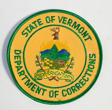Vintage State Department of Corrections Prison Vermont USA Patch