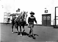 Rare Still Roy Rogers WITH HIS KIDS ON TRIGGER OFF CAMERA