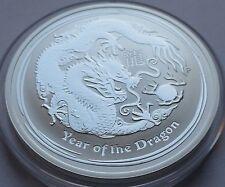 Original 2012 Australia 1 Dollar Lunar 1 oz .999 silver Year of Dragon