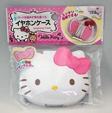 Brand New Hello Kitty Face Die-cut Earphone Case / Plastic Case Sanrio Free Ship