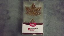 Better Homes and Gardens Leaf Napkin Rings / Holders Antique Gold Finish 2 pack