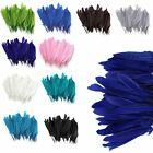100Pcs Beautiful Goose Feathers 4-6''/10-15cm for Hat Jewelry Home Party Decor