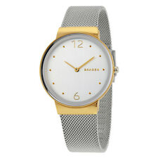 Skagen Freja Silver Dial Two Tone Ladies Watch SKW2381