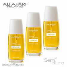 3X ALFAPARF Semi Di Lino Cristalli Liquidi Illuminating Serum 50 ml / 1.69oz.