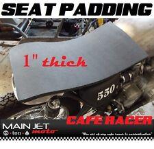 Cafe Racer motorcycle seat pad foam cushion Honda cb400 cb360 kz400 sr500 cb450