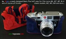 LUIGI's BLUE & RED CASE for LEICA M2-M3-M4-M6-M7-MP,LINED STRAP+FEDEX INCLUDED !
