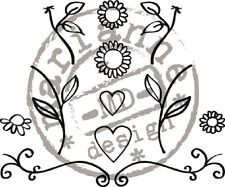 Marianne Design QUILLING Clear Rubber Stamp Set FLOWERS & HEARTS FG2462 REDUCED