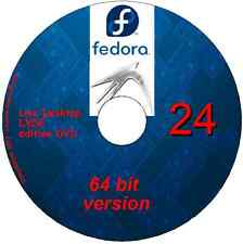 Fedora 24 Desktop Lxde 64 bit Linux on DVD + software