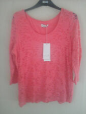 M&S Per Una copper rose lace stretch top -lined- 3/4 sleeves -  size 18 bnwt