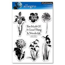 PENNY BLACK RUBBER STAMPS CLEAR ALLEGRO SET FLOWERS 09