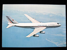 70's /80's China Airlines  Boeing 747 Postcard