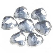 500pcs 8mm Clear Sparkle Heart Shape Table Decor for Confetti Wedding Party