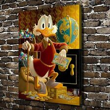 "16""x20""HD Canvas print Art painting(No frame),Disney Scrooge McDuck Vault #S1345"