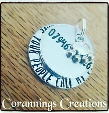 Hand Stamped Personalised Dog Tag Funny Number Pet Supplies Cat ID Tag Identity