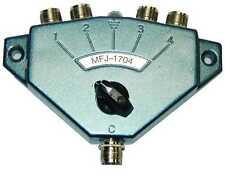 MFJ-1704 - 4 Position Antenna Switch. 500 MHz HF/VHF/UHF. Free S/H