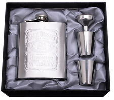Gift Stainless Steel Hip Liquor Whiskey Alcohol Pocket Flask 7oz with Funnel,Cup