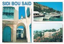 Postcard Tunesien Tunisia Tunisie Sidi Bou Said Hafen port Altstadt old town AK
