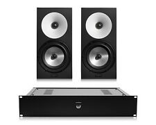 Amphion One18 Passive 2-Way Monitor Speakers (Pair) w/ Amp100 Stereo Amplifier