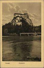 Oravský Podzámok Slowakei s/w Postkarte ~1920/30 Blick auf die Felsenburg Arwa