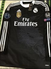 Real Madrid Adizero Long Sleeve Third Ronaldo 7 Champions Black Decima Spain.
