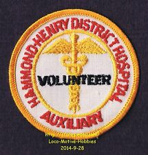 LMH PATCH Badge  HAMMOND HENRY HOSPITAL  Medical Center  VOLUNTEER AUXILIARY  IL