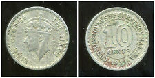 MALAISIE ( MALAYA british  colony )  10 cents 1949