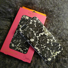 KATE SPADE Black LACE Floral IPHONE 6 PLUS Hybrid HARDSHELL CASE Cover Flowers !