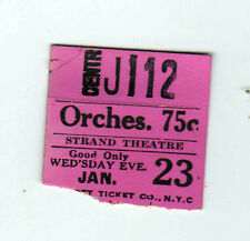 1928 CENTRAL THEATRE New York City TICKET STUB Movies THEATER Movie BROADWAY NYC
