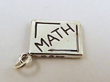 Sterling Silver Charm MATH BOOK with Relativity Formula -3333