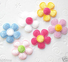 "US SELLER - 60 pcs x 1"" Mix Padded Velvet Spring Flower Appliques for Bows ST275"