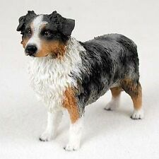 Australian Shepherd Blue Dog Hand Painted Canine Collectable Figurine Statue