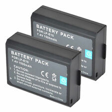 2x LP-E10 LPE10 Battery for Canon EOS 1100D Rebel T3 Kiss X50 Digital SLR C