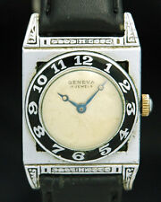 1920s GENEVA Piping Rock SWISS Men WATCH RARE Enamel Kelbert 17J ART DECO Unique