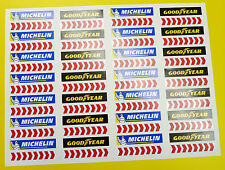 SLOT CAR SCALEXTRIC 1/32nd Barrier stickers decals Michelin chevrons x56!