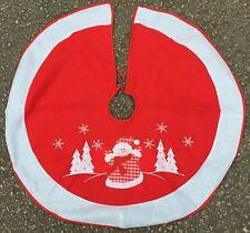 Christmas Felt Tree Skirt, 100cm Diameter, Polyester
