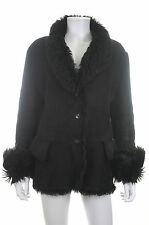 Gucci Leather Shearling Coat / Black / RRP: £2,795.00