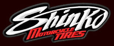 "SHINKO MOTORCYCLE TIRES EMBROIDERED PATCH ~4-3/4"" x 1-7/8"" MOTO GP BIKER RACING"